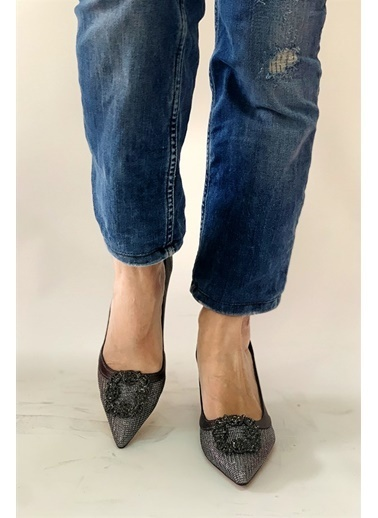 La scada Mr882 Platın Kadın Klasık Ayakkabı Gri